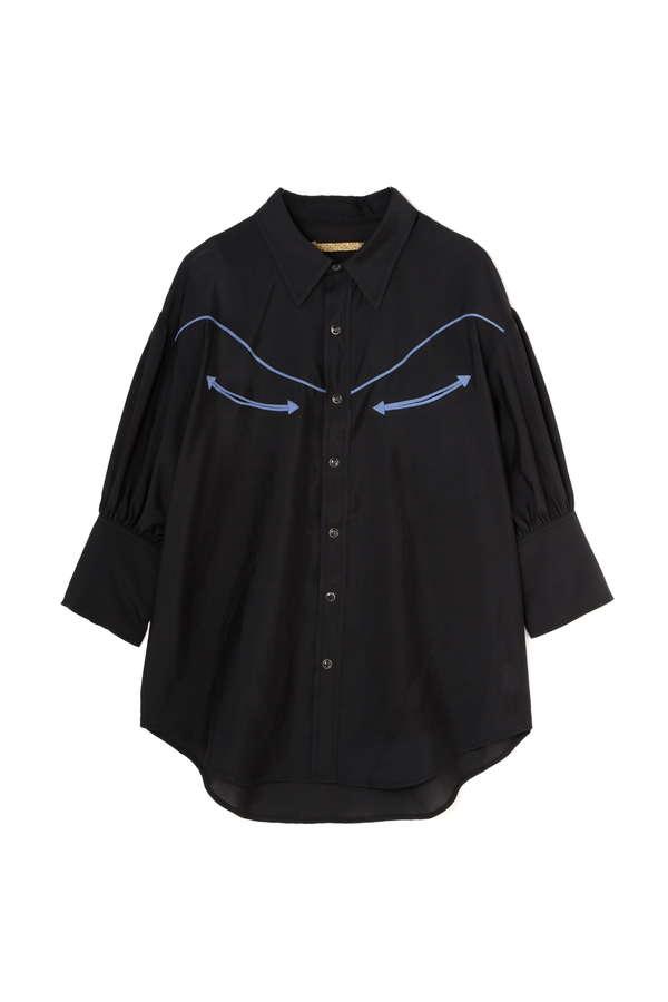 ハーフスリーブデザインシャツ