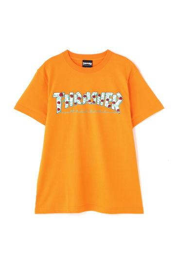 ロゴ×ローズプリントTシャツ