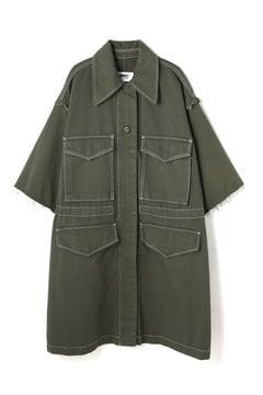 オーバーサイズ キャンバス サファリ ジャケット