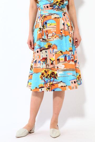 タウンプリントスカート