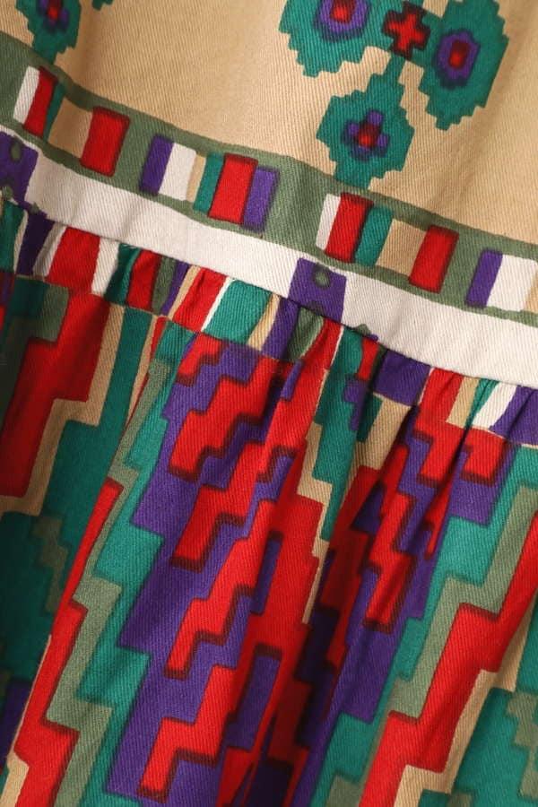 【先行予約 3月上旬入荷予定】ネイティブ柄マキシスカート