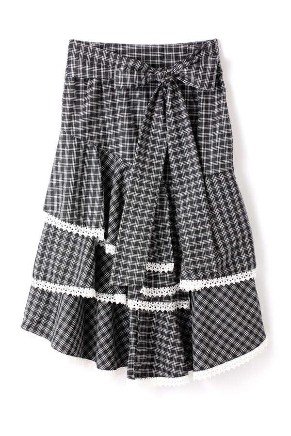 SISTER JANE フリルチェックスカート