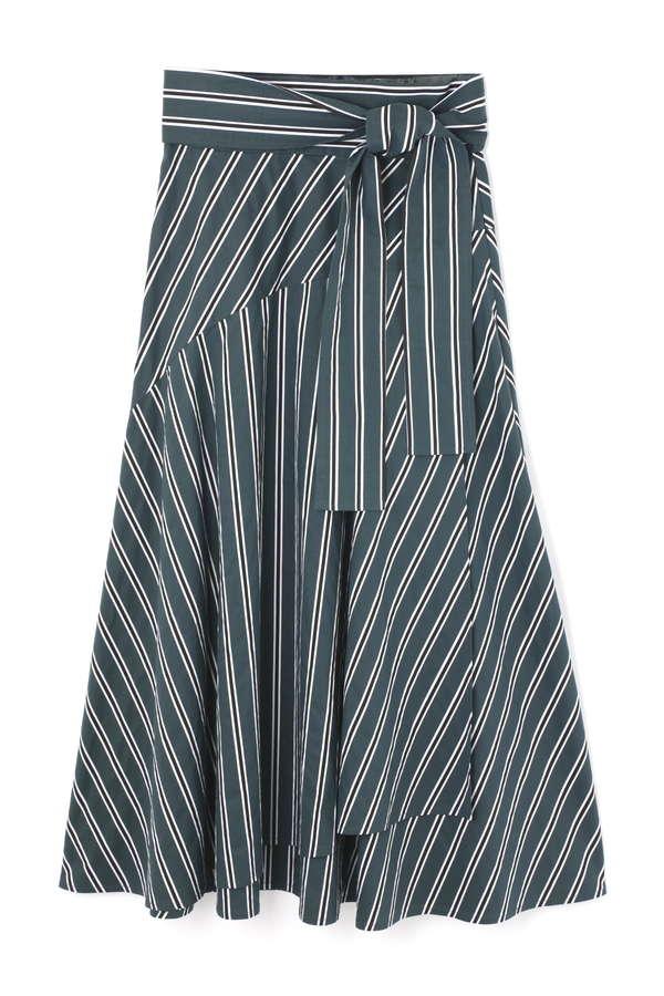 マルチストライプマキシ丈スカート
