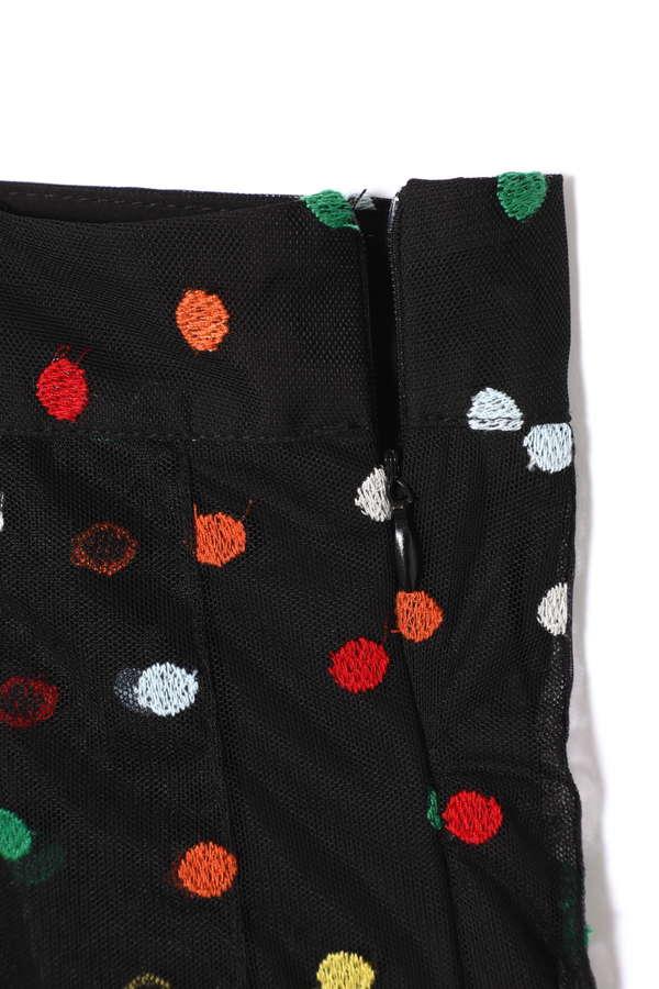 ドット刺繍チュールスカート