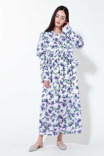 【WEB限定】ヴァイオレットミディ丈ドレス