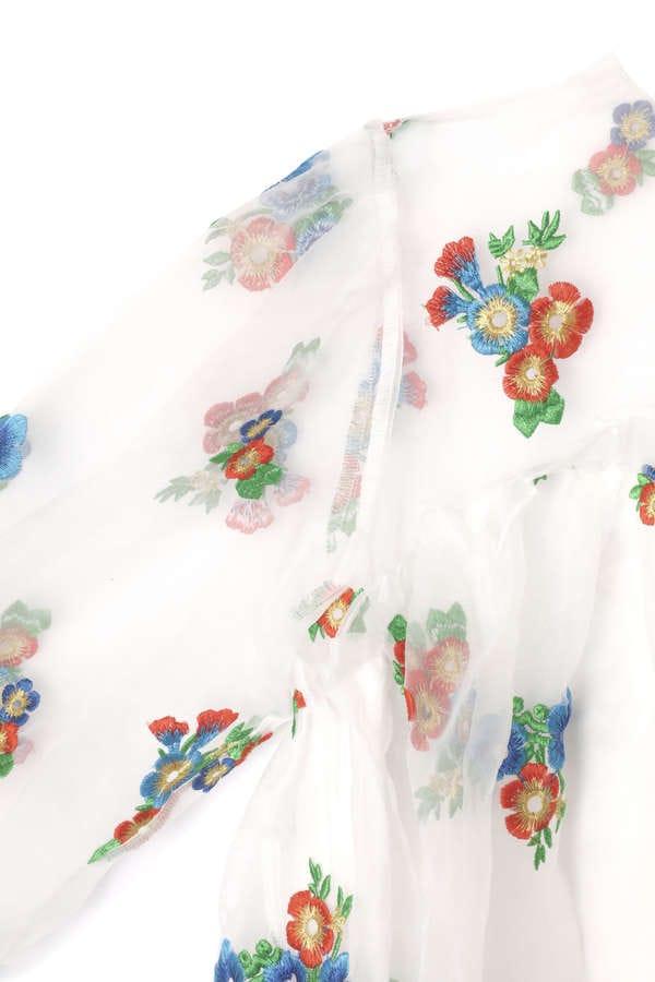 【WEB限定】オーガンザ刺繍ワンピース