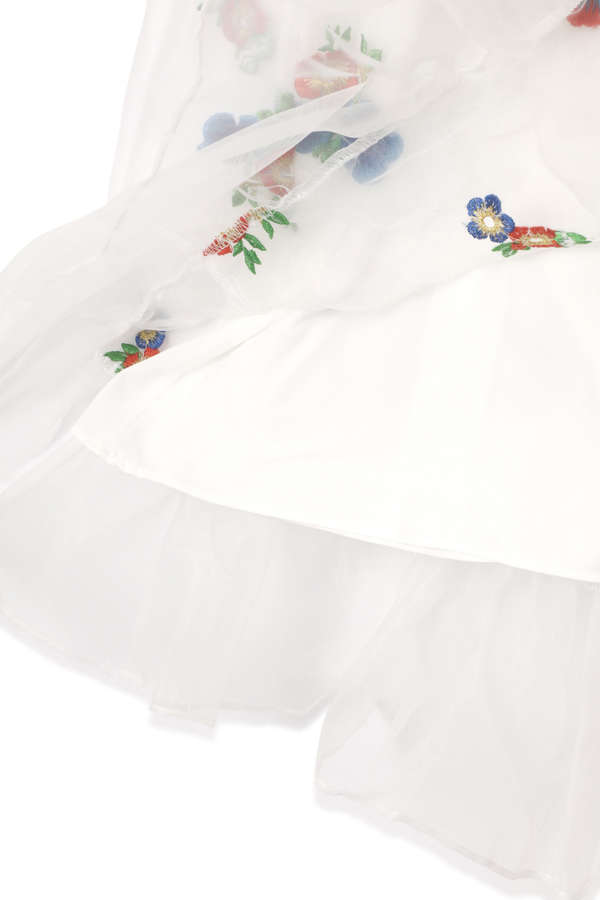 【先行予約 5月下旬-6月上旬入荷予定】【WEB限定】オーガンザ刺繍ワンピース