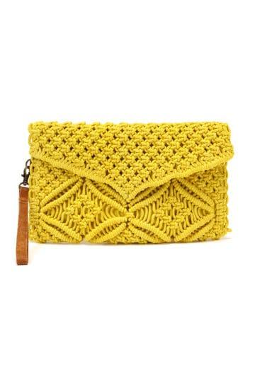 マクラメ編みクラッチバッグ