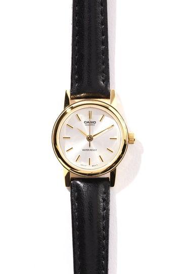 ブラックベルトラウンド腕時計