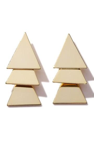 三角モチーフピアス
