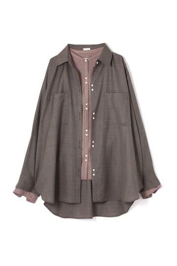 【先行予約 8月中旬-下旬入荷予定】【WEB限定】ダブルレイヤードシャツ