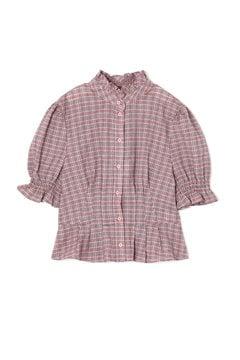 【WEB限定】パフスリーブチェックシャツ