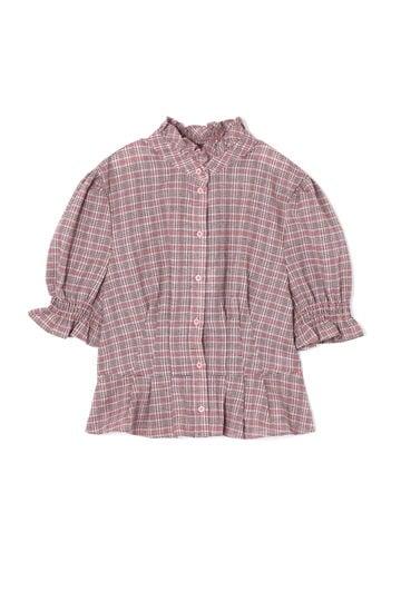 【先行予約 9月中旬-下旬入荷予定】【WEB限定】パフスリーブチェックシャツ