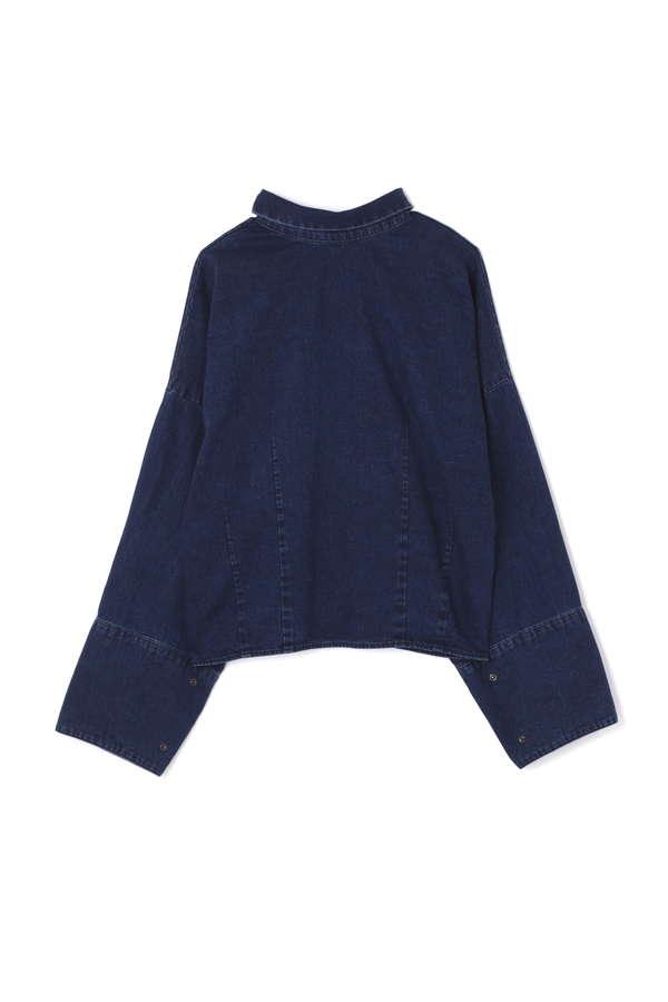 【WEB限定】スカーフカラー付きデニムシャツ