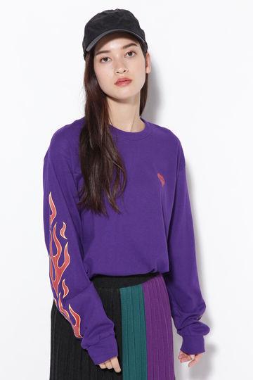フレイムプリントロングTシャツ