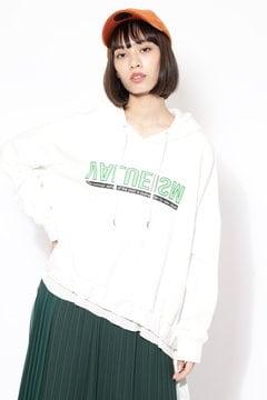 【ROSE BUD別注】ロゴフーデッドトップス