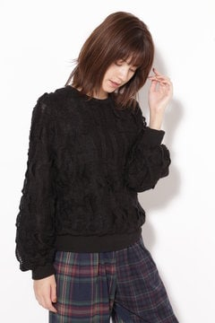 柄編みカットソー
