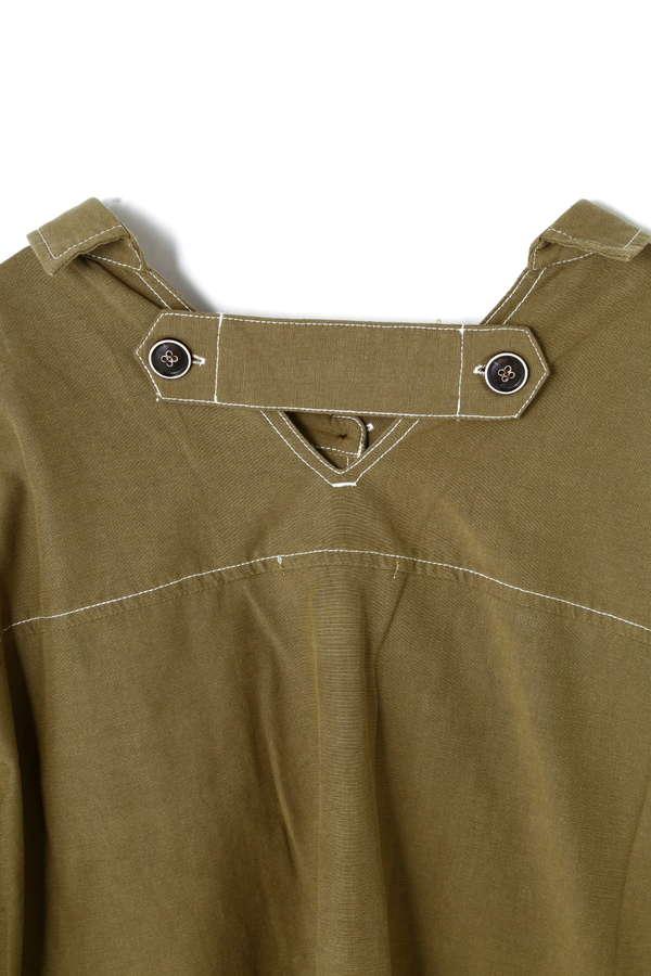 抜き襟ステッチシャツジャケット