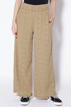 ケーブル編みパンツ