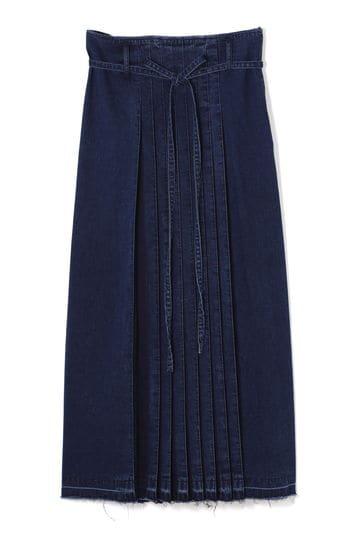 【WEB限定】ロングデニムプリーツスカート
