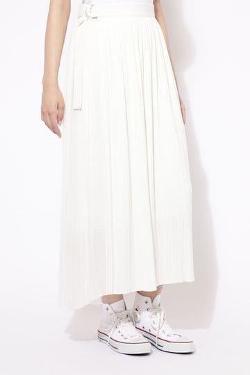 【先行予約 9月中旬-下旬入荷予定】【ROSE BUD別注】プリーツラップスカート