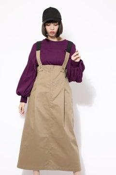 【WEB限定】【ROSE BUD別注】サスペンダー付きスカート