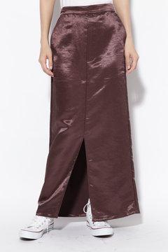 サテンストレートスカート