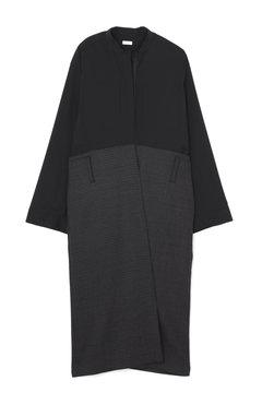 【WEB限定】コンビネーションシャツドレス