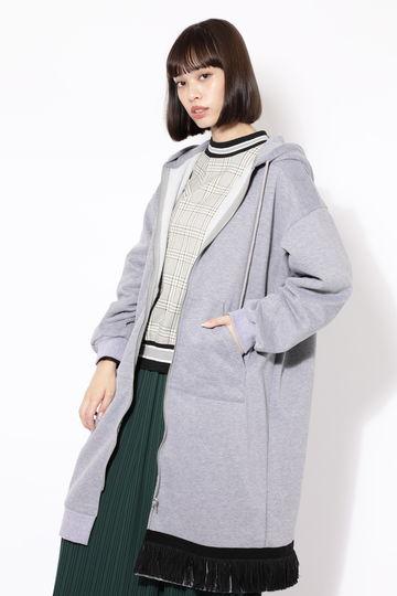 【ROSE BUD別注】バッグプリントフーデッドロングジップドレス