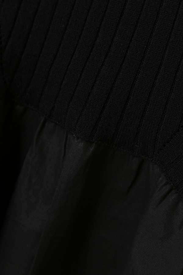 リブニットジャンパースカート