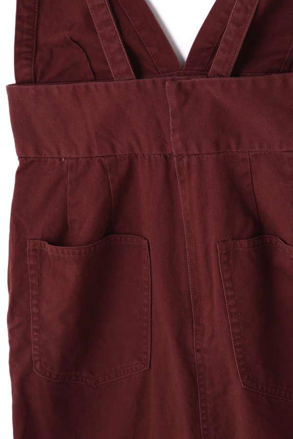 ロング丈ジャンパースカート