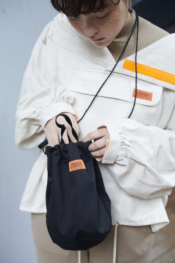 【ROSE BUD別注】巾着ショルダーバッグ