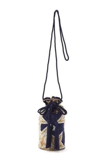 星ビーズ刺繍ショルダーバッグ