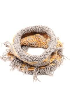 柄編みスヌード