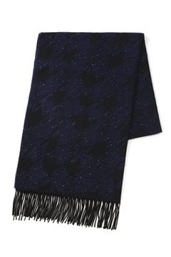 柄編みスパンコールマフラー