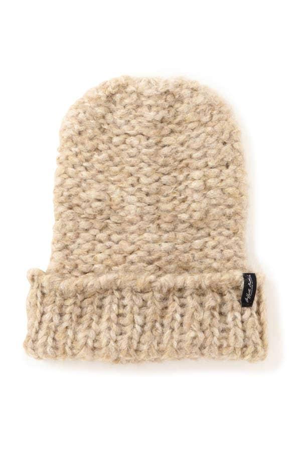 アルパカ混ニット帽