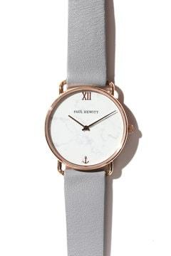 クオーツホワイトマーブル腕時計