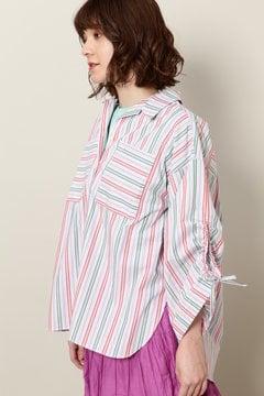 ドローストリングスリーブシャツ