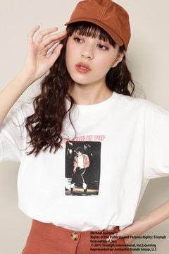 Michael JacksonフォトプリントTシャツ