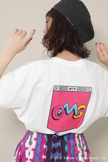 MTVロゴプリントTシャツ