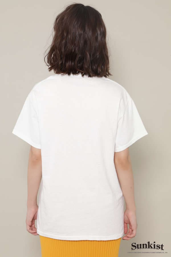 SunkistロゴプリントTシャツ
