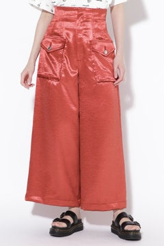 SATIN WIDE TROUSERS
