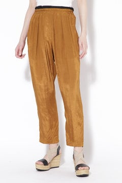 Shiny Rayon Tuck Trousers