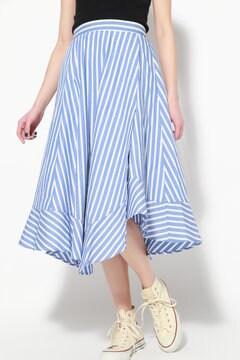 カラーストライプイレヘムスカート