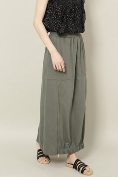 ジップ付カジュアルロングスカート