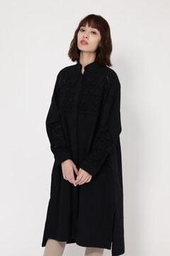 CUTWORK SHIRTS DRESS