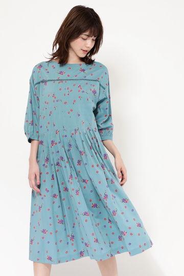 MINI FLOWER TUCK DRESS