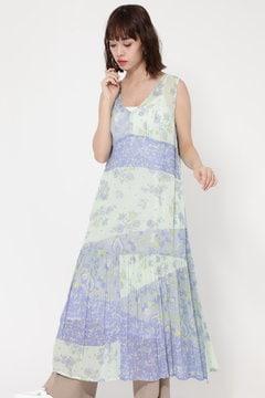 MULTI FLOWER PANEL DRESS