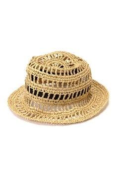 透かし柄編みチューリップハット