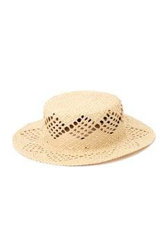 柄編みカンカン帽